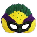 Morris Costumes TI-54 Mask Mardi Gras Sequin Feather