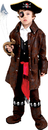 Dress Up America UP-708MD Carribean Boy Pirate Child Med