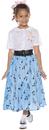 Underwraps UR-25734LG 50'S Skirt Set Child Large 10-