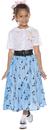 Underwraps UR-25734SM 50'S Skirt Set Child Small 4-6