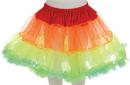 Underwraps UR-25831 Petticoat Tutu Child Rainbow