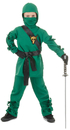 Underwraps UR-25852MD Ninja Child Green Medium