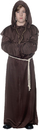 Underwraps UR-25876MD Monk Robe Child Brown Medium