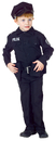 Underwraps UR-25912LG Police Man Set Lg Child 10-12