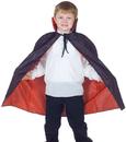 Underwraps UR-25928 Cape Taffeta Child Red/Black