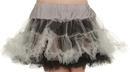 Underwraps UR-28279 Petticoat Tutu Adult Blk& Gray
