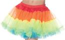 Underwraps UR-28282 Petticoat Tutu Adult Rainbow