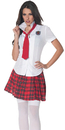 Underwraps UR-28323MD School Girl Fitted Shirt Med