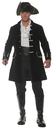 Underwraps UR-28833STD Frock Coat Adult Black Std