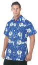 Underwraps UR-29417XL Hawaiian Shirt Blue Adult Xl