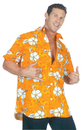 Underwraps UR-29418XL Hawaiian Shirt Orange Adult Xl