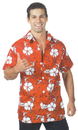Underwraps UR-29419XL Hawaiian Shirt Red Adult Xl