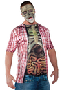 Underwraps UR-29609 Photo Real Shirt Skeleton