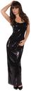 Underwraps UR-29653LG Sequin Dress Long Black Ad Lg