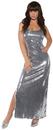 Underwraps UR-29656LG Sequin Dress Long Silver Ad Lg