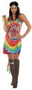 Underwraps UR-29946LG Tie Dye Mini Dress Adult Large