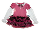 Morris Costumes XS-11799 Mh Dress Pink Child 6+