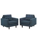 Modway Furniture EEI-1283 Empress Armchair Upholstered Set of 2