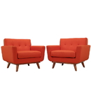 Modway Furniture EEI-1284 Engage Armchair Wood Set of 2
