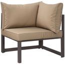 Modway Furniture EEI-1518 Fortuna Corner Outdoor Patio Armchair