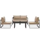 Modway Furniture EEI-1724 Fortuna 5 Piece Outdoor Patio Sectional Sofa Set