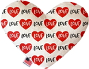Mirage Pet Products Classic Love Stuffing Free Heart Dog Toy