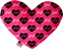 Mirage Pet Products Pink Love Stuffing Free Heart Dog Toy