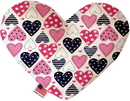 Mirage Pet Products Mixed Hearts Stuffing Free Heart Dog Toy