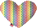 Mirage Pet Products Rainbow Fun Stripes Heart Dog Toy