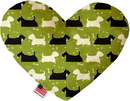 Mirage Pet Products Scottie and Westie Stuffing Free Heart Dog Toy