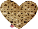 Mirage Pet Products Mocha Paws and Bones Stuffing Free Heart Dog Toy