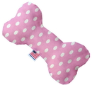 Mirage Pet Products 1160-SFTYBN10 Pink Polka Dots 10 inch Stuffing Free Bone Dog Toy