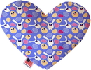 Mirage Pet Products Chicks and Bunnies Stuffing Free Heart Dog Toy