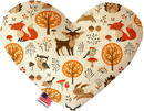 Mirage Pet Products Fox and Friends Stuffing Free Heart Dog Toy