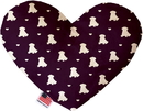 Mirage Pet Products Purple Puppy Love Stuffing Free Heart Dog Toy