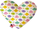Mirage Pet Products Easter Chickadees Stuffing Free Heart Dog Toy