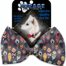 Mirage Pet Products 1200-BT Gray Feathers Wanderlust Pet Bow Tie