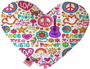 Mirage Pet Products Hippy Love Stuffing Free Heart Dog Toy