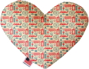 Mirage Pet Products London Love Stuffing Free Heart Dog Toy