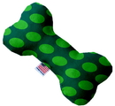 Mirage Pet Products 1227-SFTYBN6 Green on Green Dots 6 inch Stuffing Free Bone Dog Toy