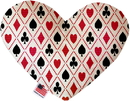 Mirage Pet Products Deck of Cards Stuffing Free Heart Dog Toy