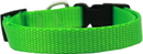Mirage Pet Products 124-1 HLGSM Plain Nylon Dog Collar SM Hot Lime Green