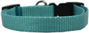 Mirage Pet Products 124-1 OBMD Plain Nylon Dog Collar MD Ocean Blue