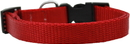 Mirage Pet Products 124-1 RDMD Plain Nylon Dog Collar MD Red