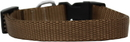 Mirage Pet Products 124-1 TNSM Plain Nylon Dog Collar SM Tan