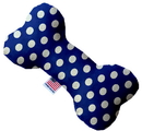 Mirage Pet Products 1241-TYBN6 Bright Blue Swiss Dots 6 Inch Bone Dog Toy