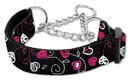 Mirage Pet Products Crazy Hearts Nylon Collars Martingale