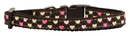 Mirage Pet Products 125-017 SMBR Argyle Hearts Nylon Ribbon Collar Brown Small
