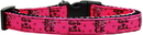 Mirage Pet Products 125-064 MDN Girls Rock Nylon Ribbon Dog Collar Medium Narrow