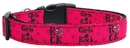 Mirage Pet Products 125-064 MD Girls Rock Nylon Ribbon Dog Collars Medium